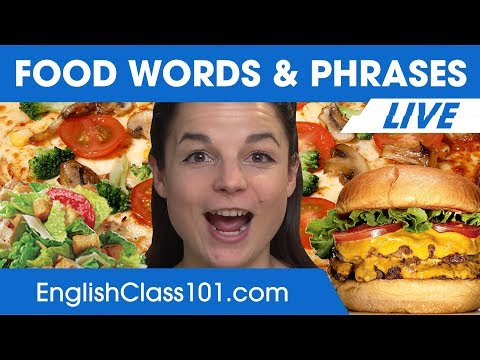 Must-Know English Food Words and Phrases - Learn English Vocabulary 🔴