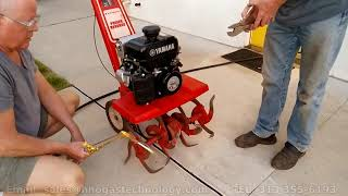100% Water On Fire Fuel Technology  - Bending Steal On A Rototiller Blades 6-3-2020