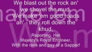 Royal Engineers :Sappers-By Rudyard Kipling