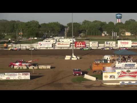 IMCA Stock Car Heats Independence Motor Speedway 5/13/17