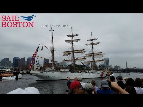 Sail Boston 2017 - Official port of the Rendez‑Vous 2017 Tall Ships Regatta.  - 4K - Samsung Galaxy