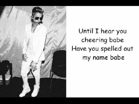 Justin Bieber - PYD Ft Kelly Lyrics video