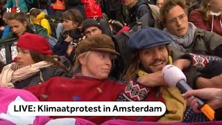LIVE: Klimaatprotest Extinction Rebellion in Amsterdam