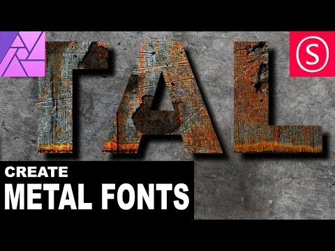 Affinity Photo - Rusty Metal Font Tutorial