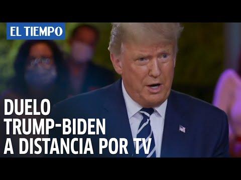 Duelo Trump-Biden a distancia por TV en una campaña alterada por el covid-19