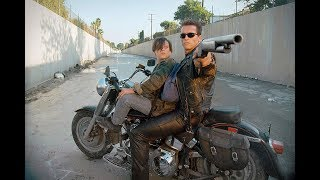 The Terminator 2: All Bike Scenes -  Harley-Davidson - FAT BOY - Schwarzenegger