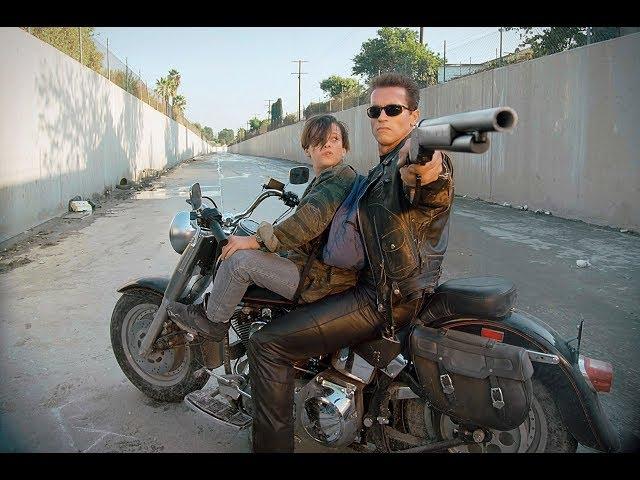 The Terminator 2: All Bike Scenes -  Harley-Davidson - FAT BOY - Schwarzenegger
