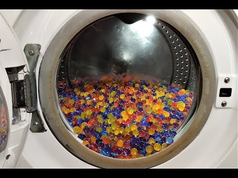 Experiment - 10000 Orbeez - in a Washing Machine - Centrifuge