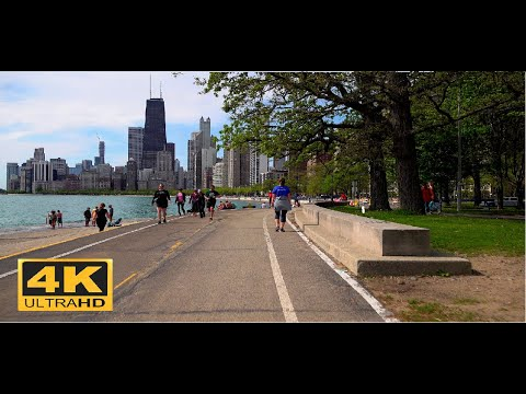 | 4K |  Walking Chicago LakeFront Trail