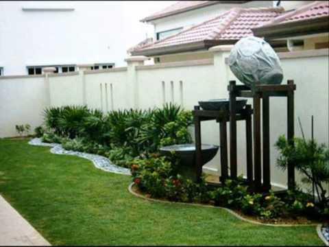 การตกแต่งสวนบริเวณบ้าน รูปแบบสร้างบ้าน