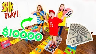 GIANT Board Game Challenge! Winner Gets $10,000 and Treasure...