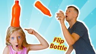 Милана РЕШИЛА ПОИГРАТЬ в БУТЫЛКА ВОДЫ ЧЕЛЛЕНДЖ или NEW Flip Bottle Challenge для детей