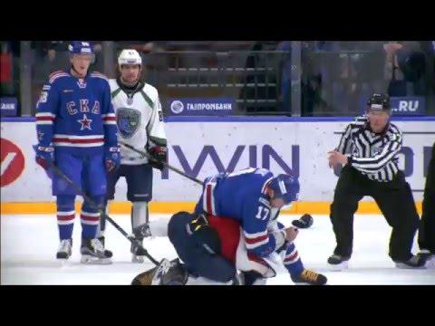 KHL Fight: Ilya Kovalcuk VS Evgeny Orlov full incident