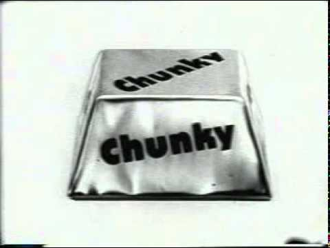 Classic TV commercial Chunky Candy Bar B&W 0 29