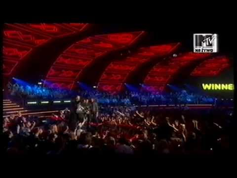 The Killers accept MTV Europe Music Award for Best Rock 2006
