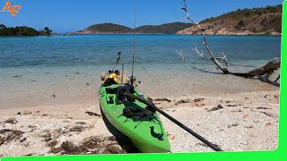 Solo camping on deserted island - Catch and Cook adventure - with Ocean Kayak - Monster Fish EP.504