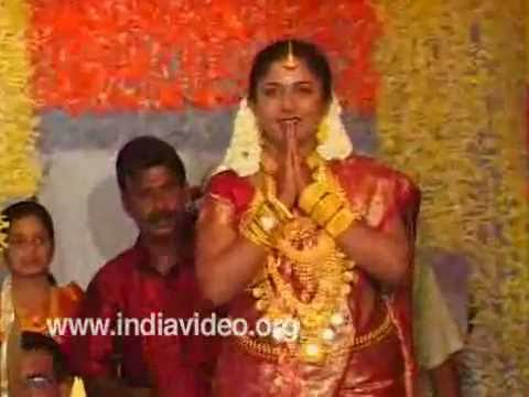 Welcoming the bride in Hindu marriage