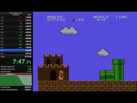 Super Mario Bros. Warpless Speedrun in 19.56 (Famicom)
