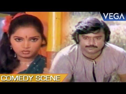 Vijayakanth Hears Subathras Voice In Tape recorder    Naan Sootiya Malar Tamil Movie    Comedy Scene