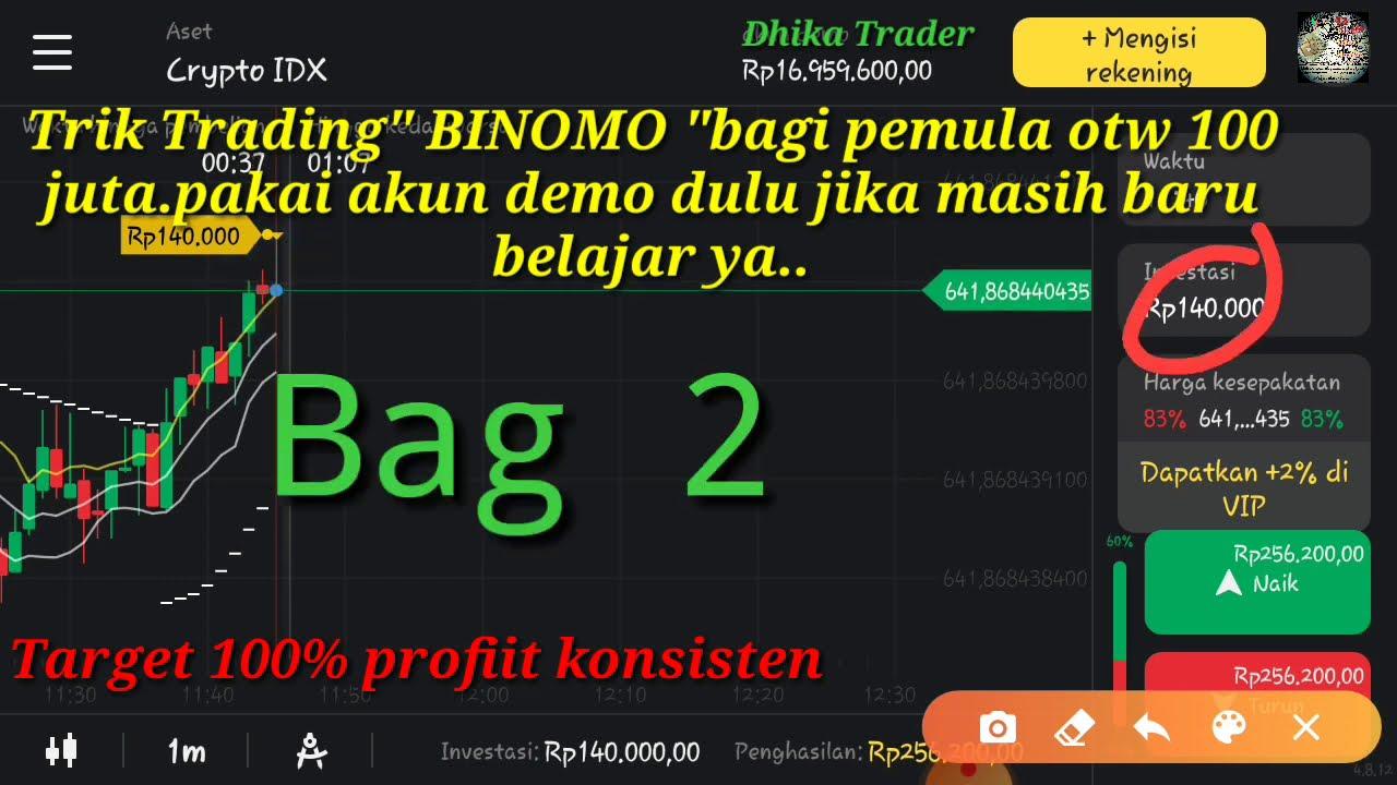 """Trik Strategi Bagi Pemula """"Trading Binomo """"pakai akun Demo ..."""