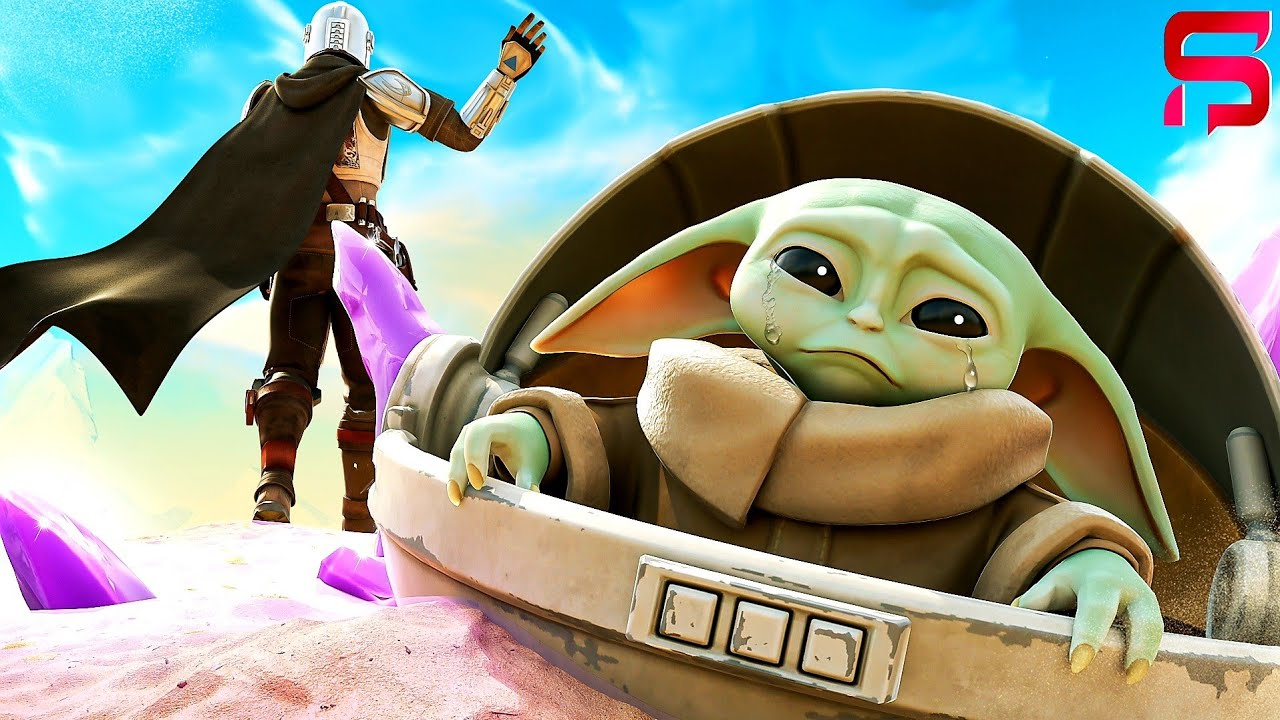 A DAY IN THE LIFE of BABY YODA... ( Fortnite Short)