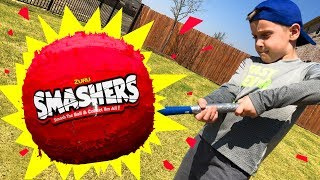 SMASHERS Smash Balls Challenge with Gear Test & Toys Review!