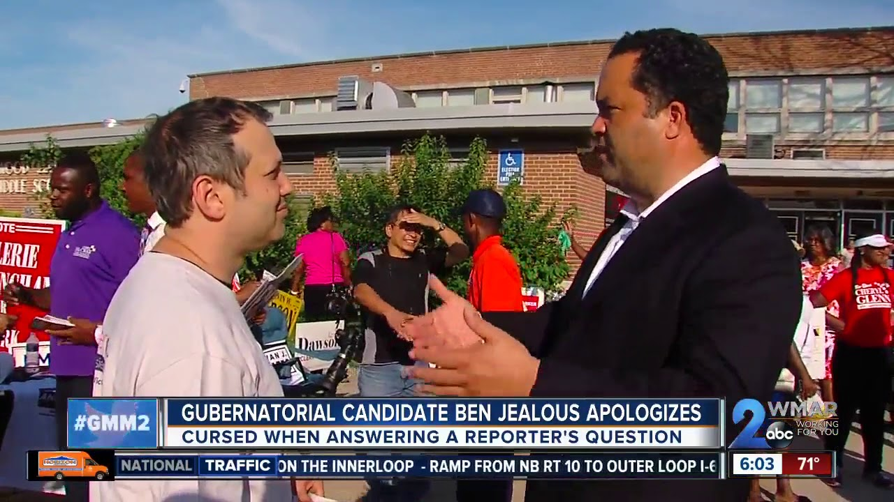 Ben Jealous apologizes after cursing when answering reporter's question