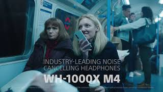 Sony WH-1000XM4 Wireless Handsfree Premium Noise Cancelling Battery up to 30h - Black Bluetooth Headphone