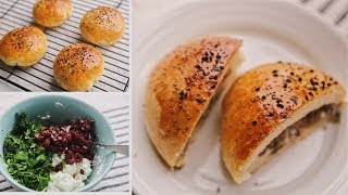 فطاير تركية لذيذة بحشوة الجبنة الفيتا و الزيتون /    Turkish Pogaca bread