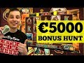 BONUS HUNT RESULTS €5000, 16 Casino Slot Bonuses - YouTube