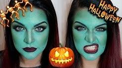 Зелена вещица - грим за Halloween   Bobismakeup