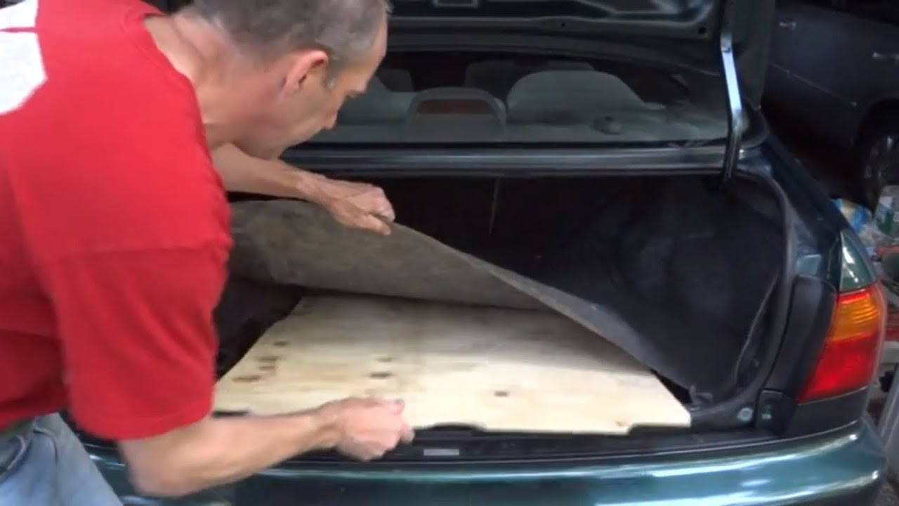 How To Make A New Spare Tire Cover Trunk Board - YouTube
