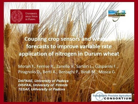 Coupling Crop Sensors & Weather Forecasts to Improve Variable Rate Application of N in Durum Wheat