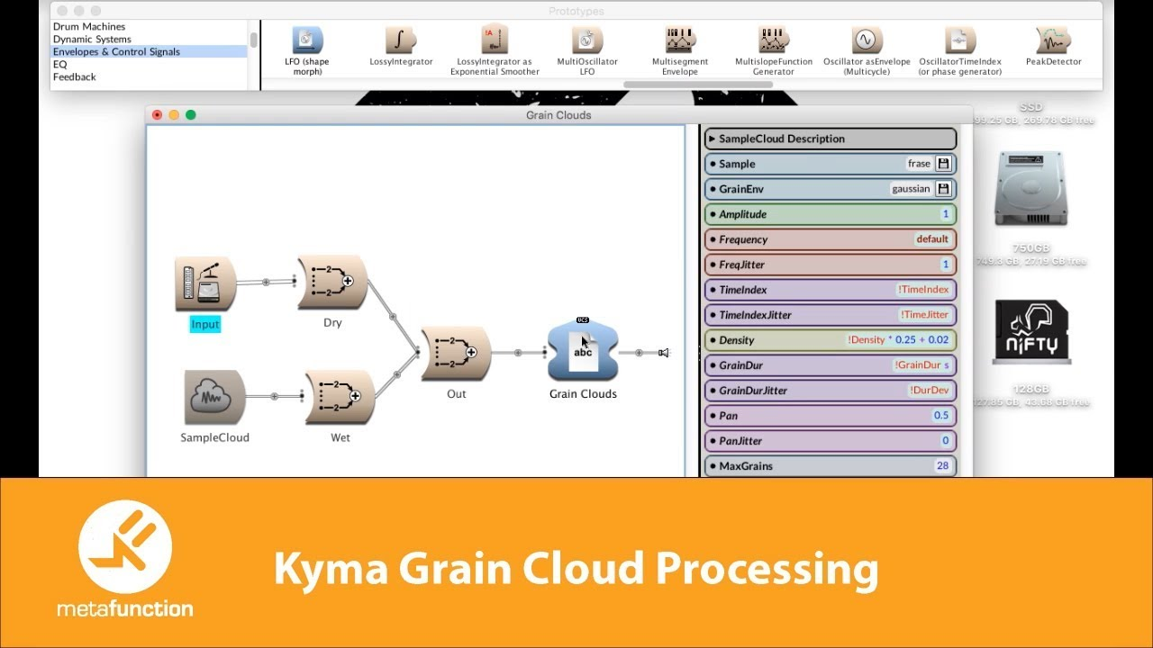 Kyma Grain Clouds Processing