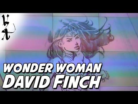 David Finch drawing Wonder Woman