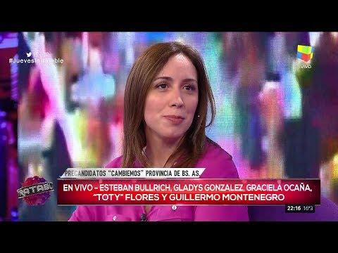 """María Eugenia Vidal en """"Intratables"""", con S.del Moro (completo HD) - 10/08/17"""