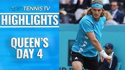 Murray's Winning Return; Tsitsipas Into Quarter-Finals | Queen's 2019 Highlights Day 4