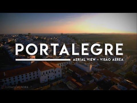 Portalegre Aerial View - Portalegre Vista Aérea - 4K Ultra HD