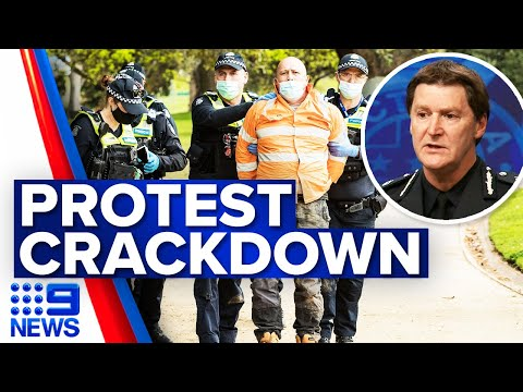 Melbourne CBD to be locked down to prevent protest | Coronavirus | 9 News Australia