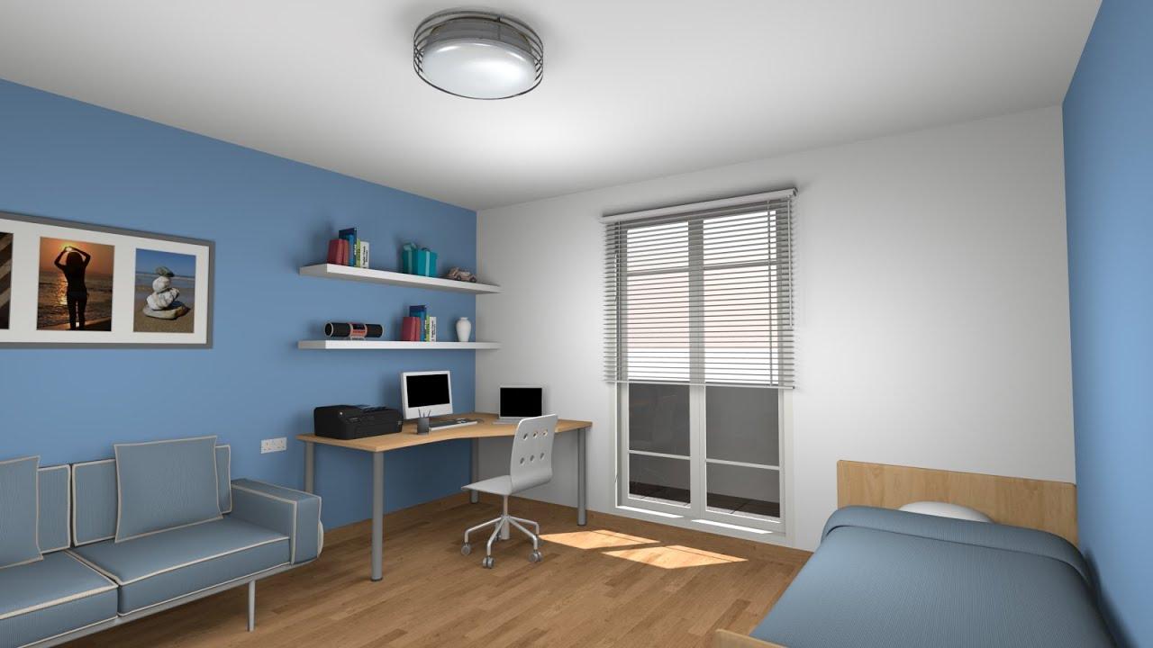 3d Office Wallpaper Sweet Home 3d Tutorial Design And Render A Bedroom Part