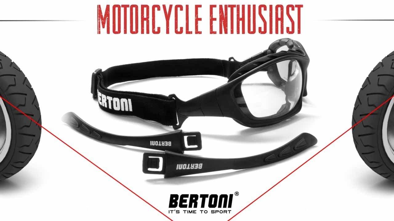 9b56eba33e67 Motorcycle Goggles by Bertoni Italy - YouTube