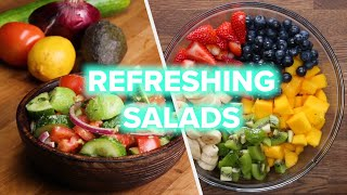 Make these power salads to fuel your healthy lifestyle! recipes: https://tasty.co/compilation/10-power-salads-for-a-healthy-lifestyle subscribe goodful: h...