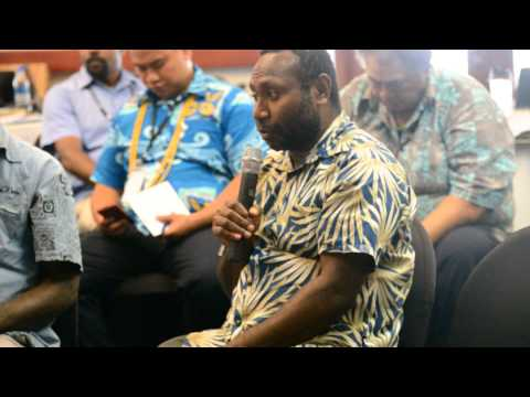 Mr Tate (Director Agriculture) Group Discusion KM Workshop Vanuatu
