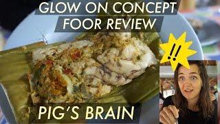 Along the way: Pig's Brain!! Weird Thai local food with Farang!