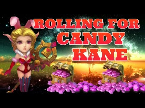 Castle Clash Rolling For Candy Kane On Main Account!