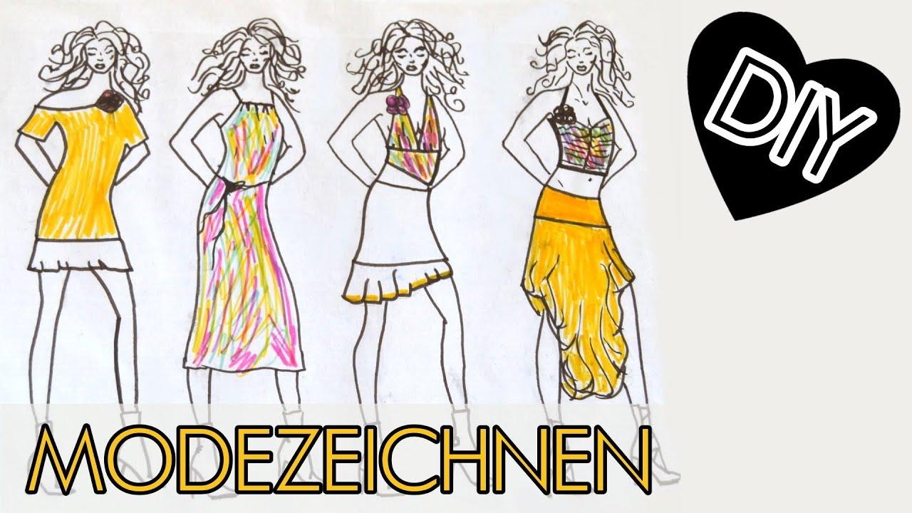 Kleider zeichnen lernen online