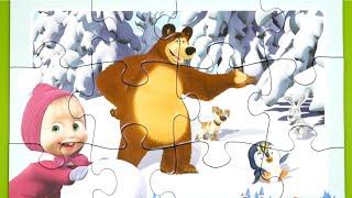 Masha and the bear Puzzle . Маша и Медведь головоломка . マーシャと熊 パズル