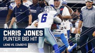 Cowboys Punter Chris Jones Levels Return Man! | Lions vs. Cowboys | NFL Wk 16 Highlights