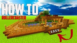 Minecraft: How To Build A Mini ROLLERCOASTER | Theme Park Tutorial