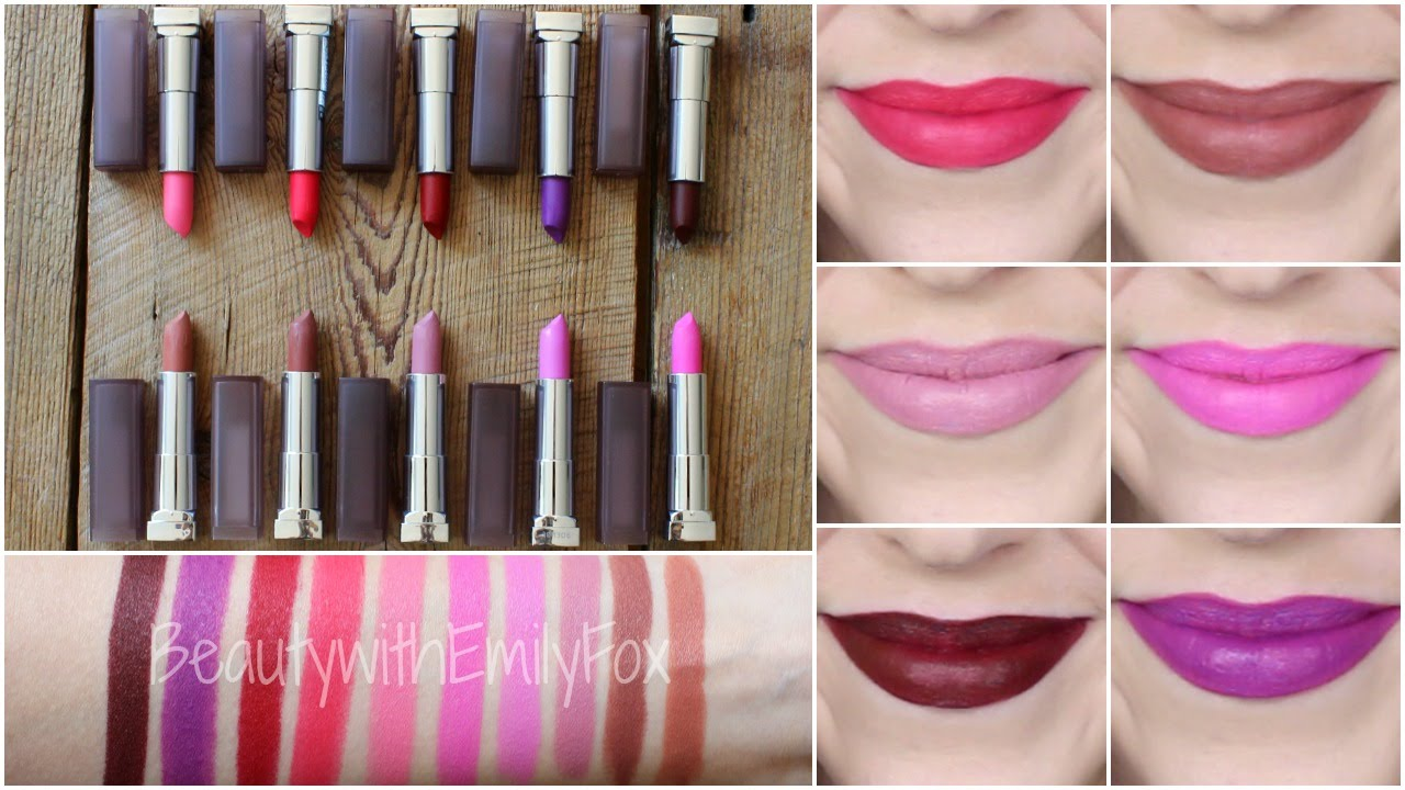 New Maybelline Creamy Matte Lipstick Shades Lip Swatches 2015